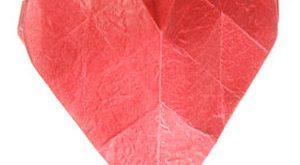 عکس آموزش اوریگامی سه بعدی قلب