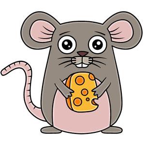 عکس آموزش نقاشی موش
