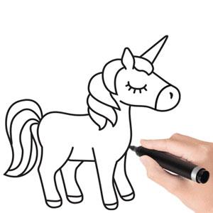 عکس آموزش نقاشی اسب تک شاخ