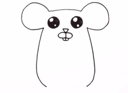 اموزش نقاشی موش ساده