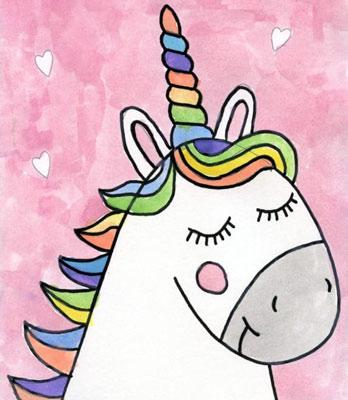 آموزش نقاشی اسب تک شاخ ساده