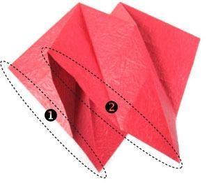عکس آموزش اوریگامی سه بعدی با کاغذ