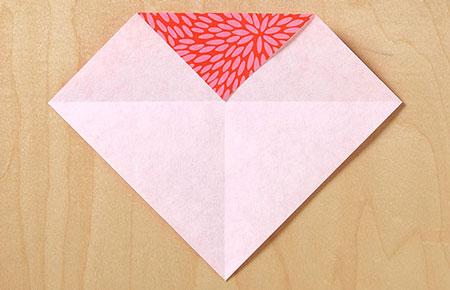 عکس اموزش اوریگامی قلب کاغذی