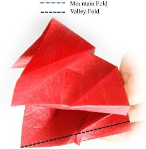 عکس آموزش گام به گام اوریگامی سه بعدی