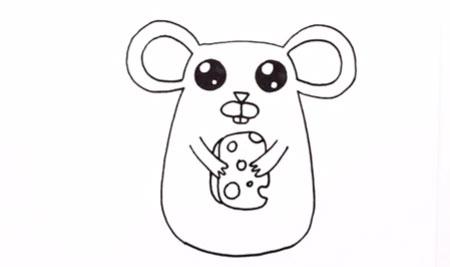 آموزش تصویری نقاشی موش