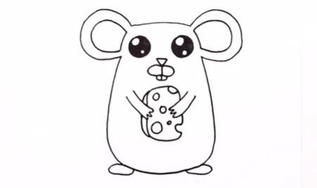 عکس آموزش تصویری نقاشی موش