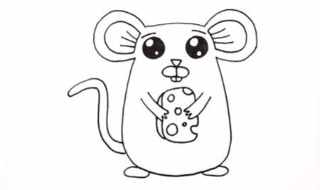 عکس آموزش نقاشی کشیدن موش