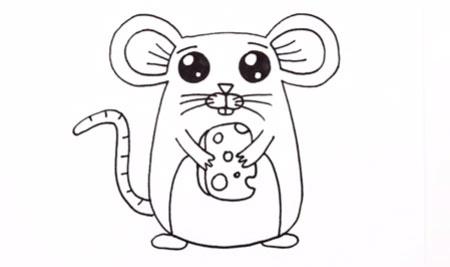 عکس آموزش نقاشی گام به گام موش