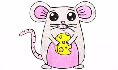 آموزش نقاشی یک موش