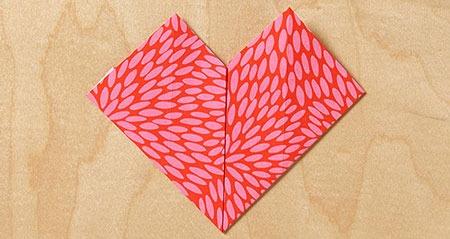 عکس آموزش قلب با اوریگامی