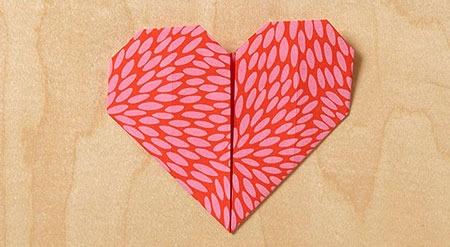 عکس اوریگامی قلب