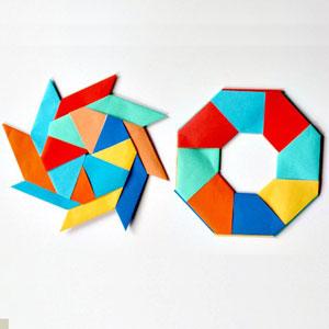 عکس آموزش ساخت اوریگامی متحرک