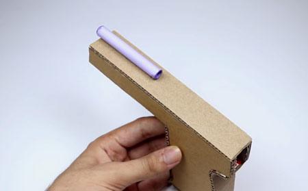 عکس آموزش ساخت تفنگ با کارتن آسان