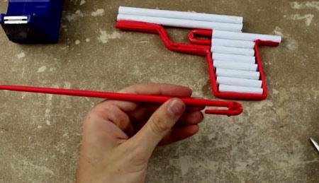 عکس آموزش ساخت تفنگ با کاغذ آسان