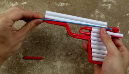 عکس آموزش ساخت تفنگ کاغذی کشی