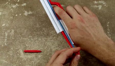 عکس اموزش ساخت اسلحه کلت کاغذی