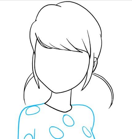 آموزش مرحله به مرحله نقاشی دختر کفشدوزکی