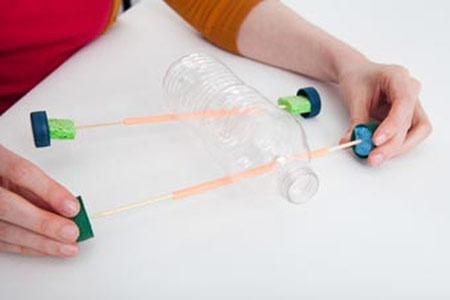 عکس آموزش ساخت ماشین بادکنکی ششم دبستان