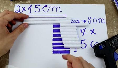 عکس آموزش ساخت تفنگ کاغذی ساچمه ای