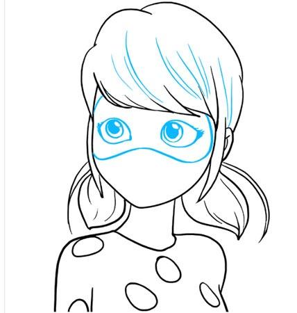 عکس نقاشی دختر کفشدوزکی