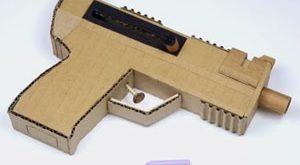 عکس آموزش ساخت تفنگ با کارتن