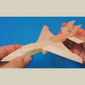 عکس آموزش ساخت هواپیما با چوب بستنی