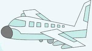عکس آموزش نقاشی هواپیما
