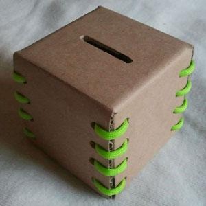 عکس آموزش ساخت قلک با کارتن