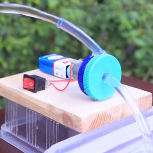 عکس آموزش ساخت پمپ آب با آرمیچر