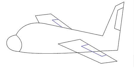 عکس نقاشی بال هواپیما