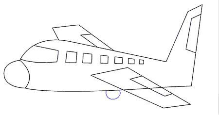 اموزش نقاشی هواپیما مسافربری