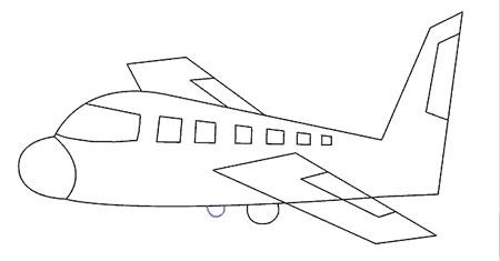 آموزش گام به گام نقاشی هواپیما