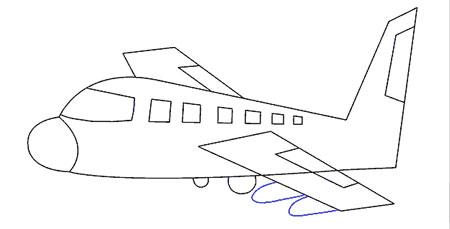 عکس آموزش نقاشی درباره هواپیما