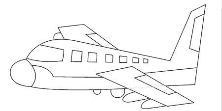آموزش نقاشی هواپیما کودک