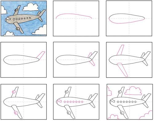 عکس الگوی نقاشی هواپیما