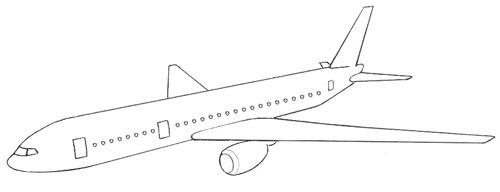 عکس نقاشی هواپیمای مسافربری