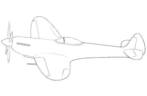 عکس نقاشی هواپیمای ملخی