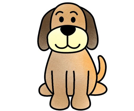 آموزش مرحله ای نقاشی سگ