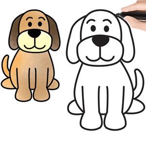 عکس آموزش نقاشی سگ