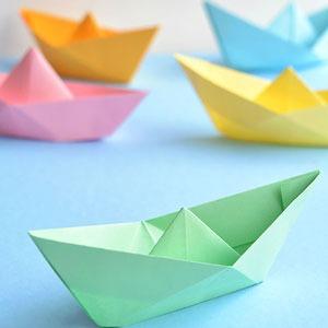 عکس آموزش ساخت قایق کاغذی