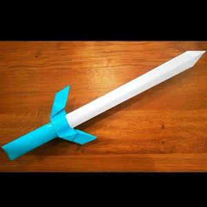 عکس آموزش ساخت شمشیر کاغذی
