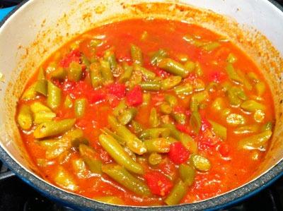 طرز تهیه ترشی لوبیا سبز با پوره گوجه فرنگی