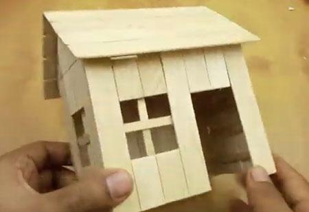 عکس خانه با چوب بستنی