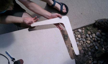 آموزش ساخت بومرنگ چوبی