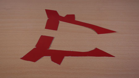 عکس الگوی هواپیما با بطری