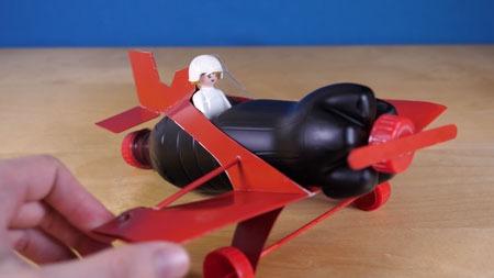 عکس ساخت هواپیما با بطری