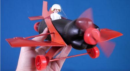 عکس آموزش ساخت هواپیما با بطری