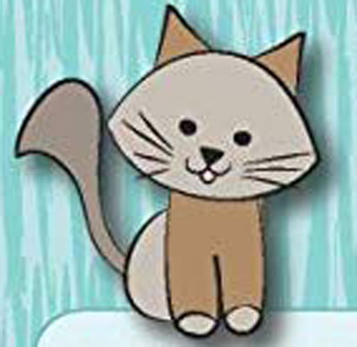 عکس نقاشی گربه کارتونی