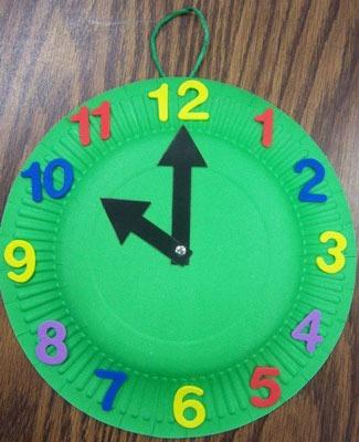 عکس آموزش کاردستی ساعت برای کلاس اول