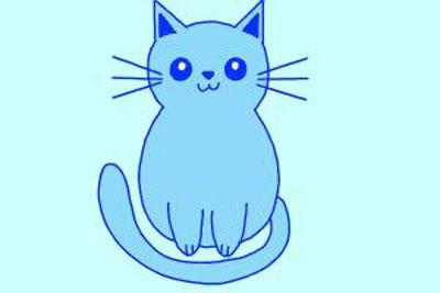 عکس نقاشی گربه ساده